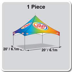 20' x 20' Pinnacle Series High Peak Frame Tent / Cross Cable Marquee Full Digital Print