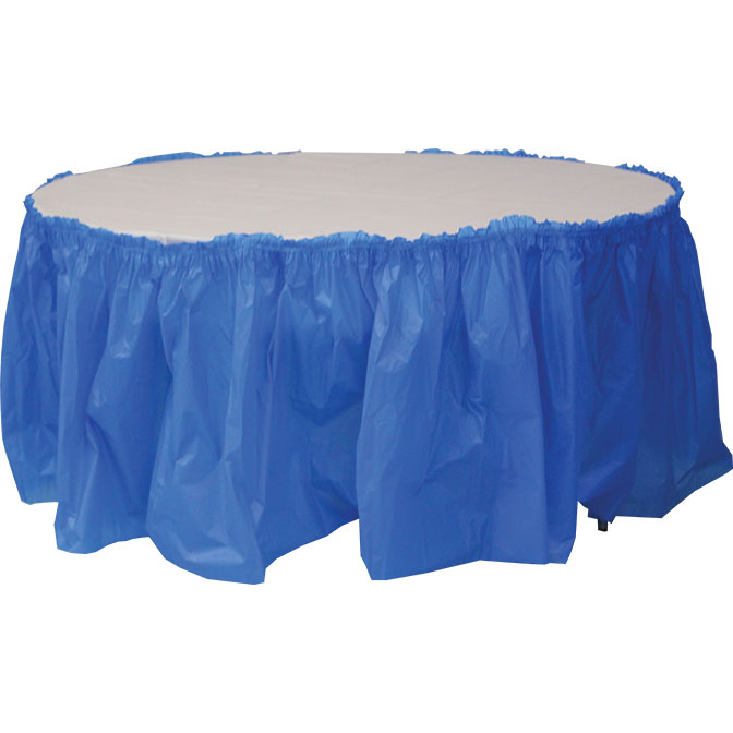 14 Plastic Table Skirting For Square Banquet And Round