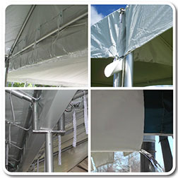 Rain Water Gutters For Adjacent Tents