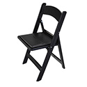 Oxford Black Resin Chair