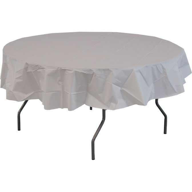 84 Round Heavy Duty Plastic Table Covers