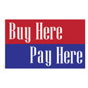 Buy Here Pay Here Rectangle Flags