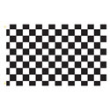 Black White Checker Rectangle Flags