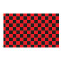 Red Black Checker Rectangle Flags