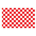 Red White Checker Rectangle Flags