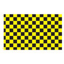 Yellow Black Checker Rectangle Flags