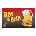 Bar & Grill Rectangle Flags