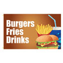 Burgers Fries Drinks Rectangle Flags