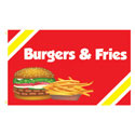 Burgers & Fries Rectangle Flags
