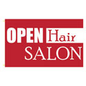 Open Hair Salon Rectangle Flags