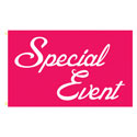Special Event Pink Rectangle Flags