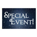 Special Event Sparkle Rectangle Flags