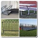 Staging, Bleachers, Fencing
