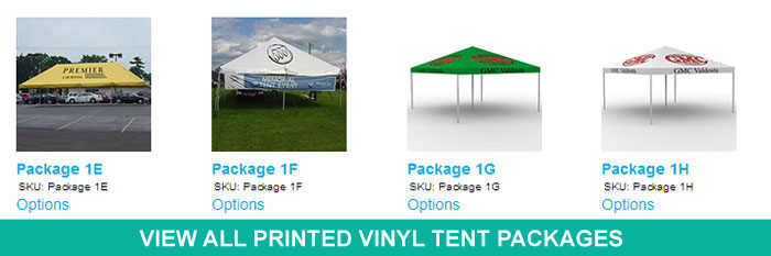 Printed Tents, Canopies, and Promotional Items