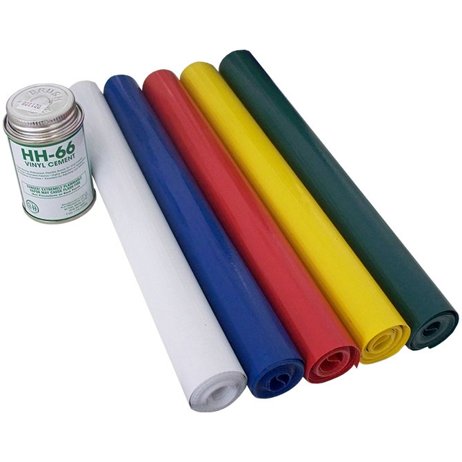Vinyl Repair Kit With Single Colored Fabric And Hh66